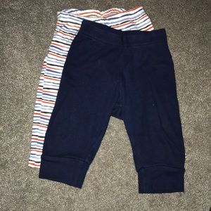 Striped and Solid Pants